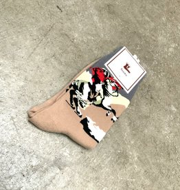 Young & Heart Napoleon Crew Socks, 95% cotton, 3% polyester, 2% spandex