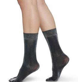 Swedish Stockings Swedish Stockings, Ines Shimmery Socks, Black, O/S