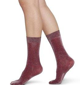 Swedish Stockings Swedish Stockings, Ines Shimmery Socks, Wine, O/S