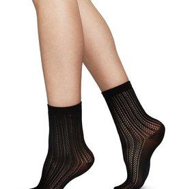 Swedish Stockings Swedish Stockings, Klara Knit Socks, Black, O/S