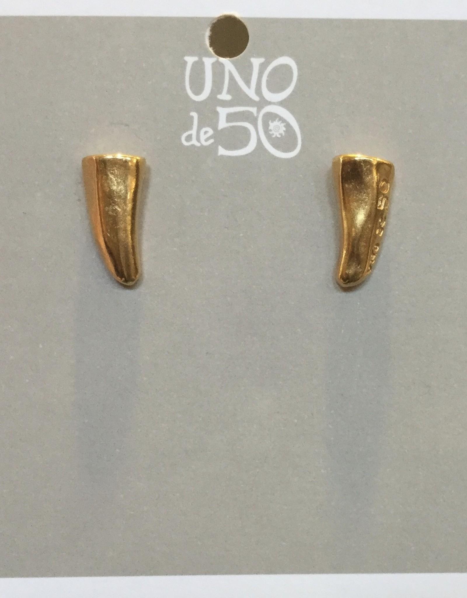 Uno de50 Golden Horn Earrings