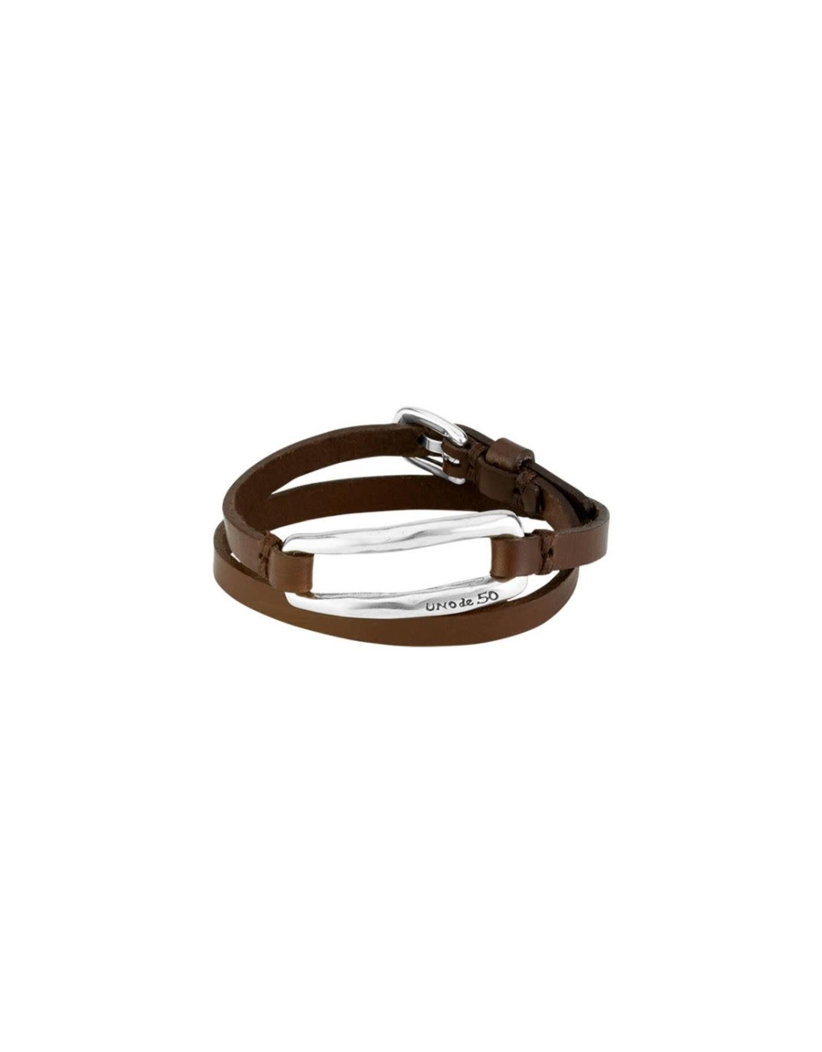Uno de50 Double Trapped Bracelet