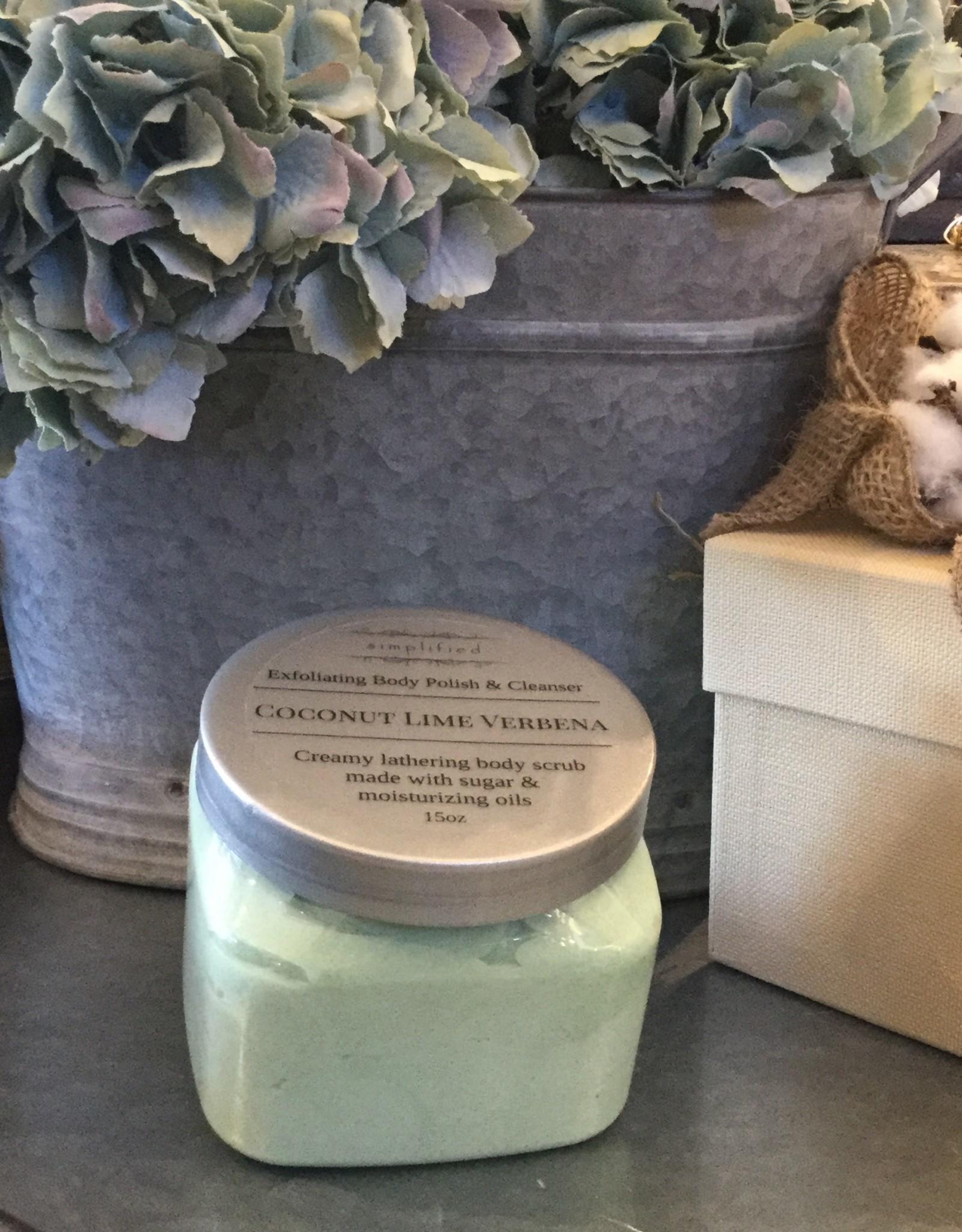 Simplified Soap 15 oz Body Polish - Coconut Lime Verbena