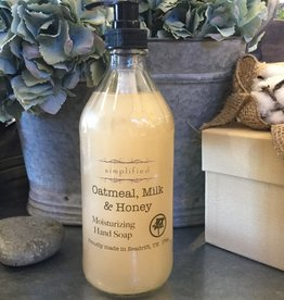Simplified Soap Hand Soap 16oz - Oatmeal, Milk, & Honey