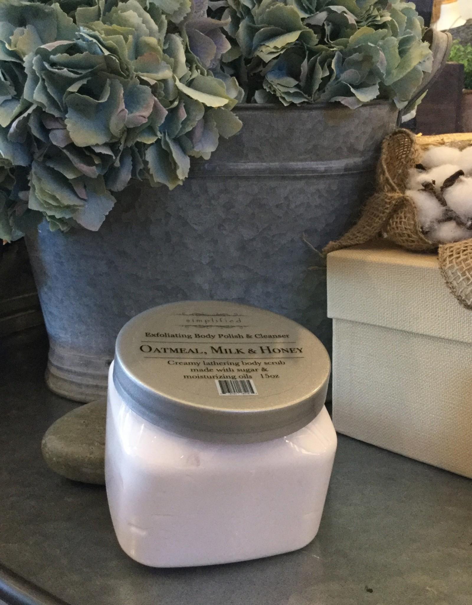 Body Polish 15 oz - Oatmeal, Milk, & Honey