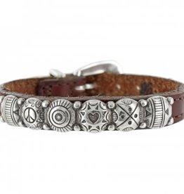 Brighton Brown Leather Harmony Bracelet
