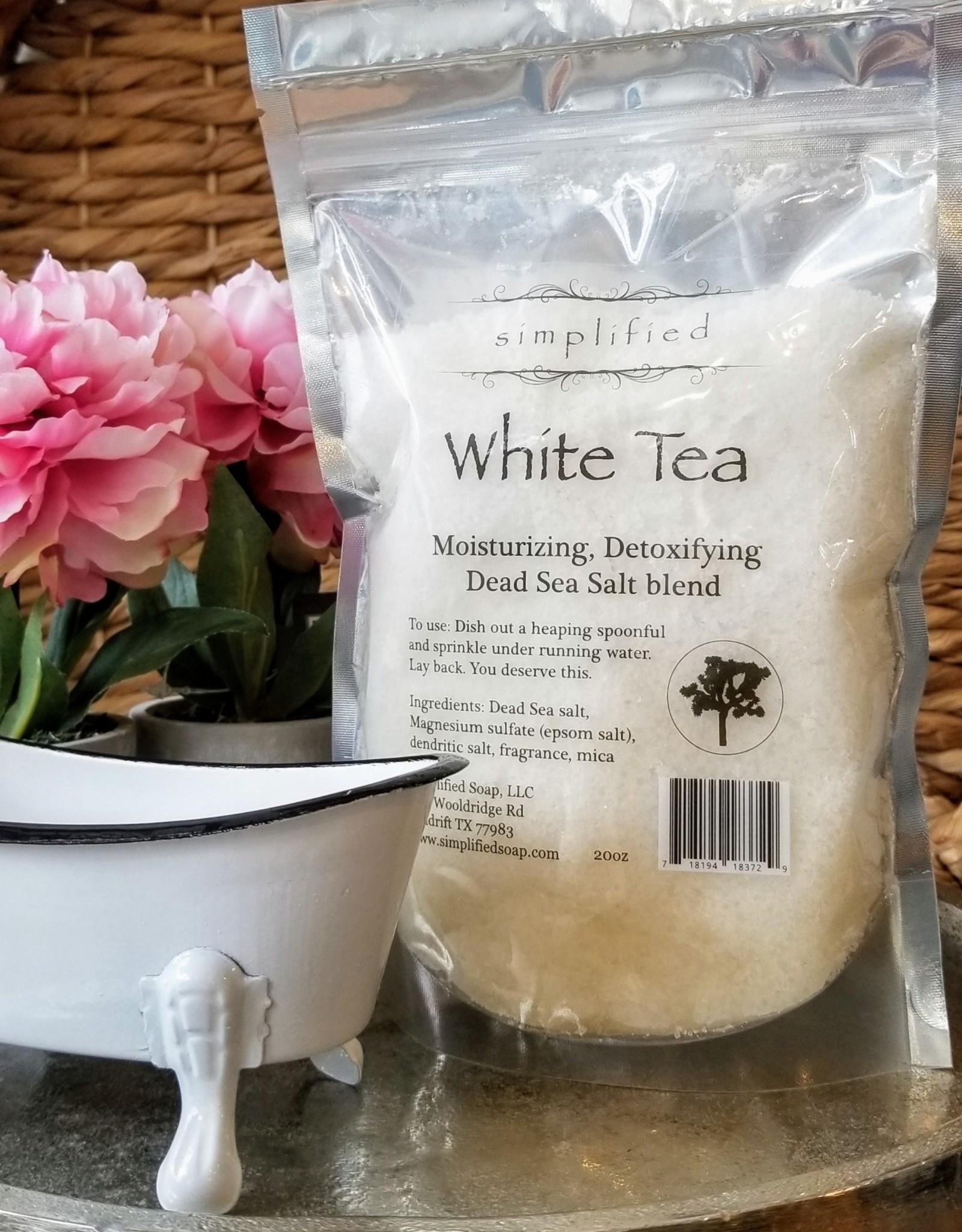 Simplified Soap Bath Salt Bag - White Tea