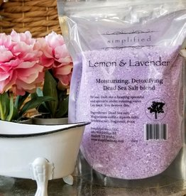 Simplified Soap Bath Salt Bag - Lemon & Lavender