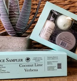 Simplified Soap 5 Piece Sampler - Coconut Lime Verbena