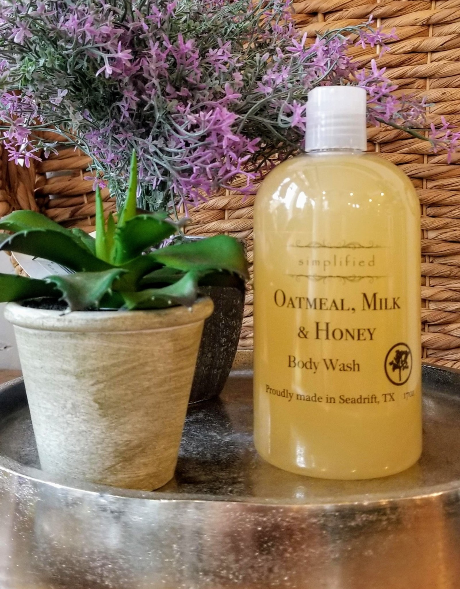 Simplified Soap Body Wash - Oatmeal, Milk, & Honey
