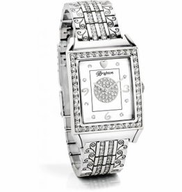 Brighton SIL/STN Diamond Bar Watch