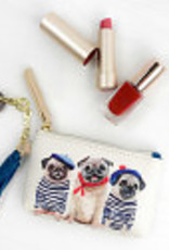 Greenbox Art 3 French Pugs Key Pouch