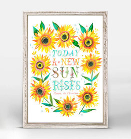 Greenbox Art Greenbox A New Sun Rises Mini Framed Canvas