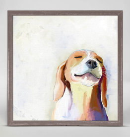 Greenbox Art Greenbox Beagle Grin Mini Framed Canvas