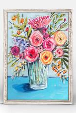 Greenbox Art Blue Flowers Mini Framed Canvas