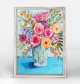 Greenbox Art Blue Flowers Mini Framed Canvas