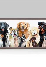 Greenbox Art Dog Bunch Mini Framed Canvas 5x10