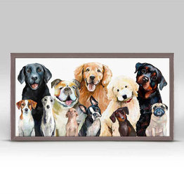 Greenbox Art Dog Bunch Mini Framed Canvas 5x10