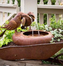 Park Hill Collection Folk Art Crows Fountain