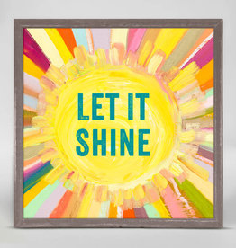 Greenbox Art Let It Shine Mini Framed Canvas