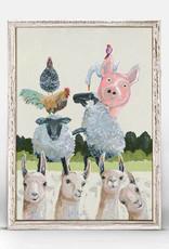 Greenbox Art Llama Llama Pig Mini Framed Canvas