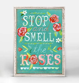 Greenbox Art Stop & Smell The Roses Mini Framed Canvas