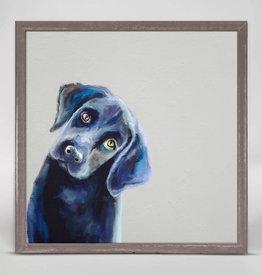 Greenbox Art Best Friend - Curious Black Lab Mini Canvas 6x6