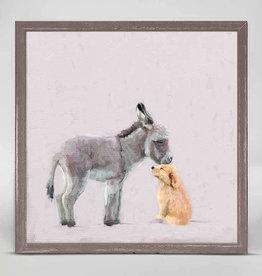 Greenbox Art Donkey & Pup Mini Canvas 6x6
