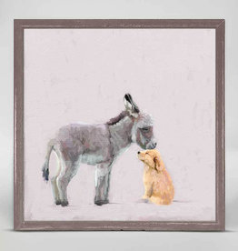 Greenbox Art Greenbox Donkey & Pup Mini Canvas 6x6