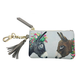 Greenbox Art Greenbox Lovely Donkeys Key Pouch