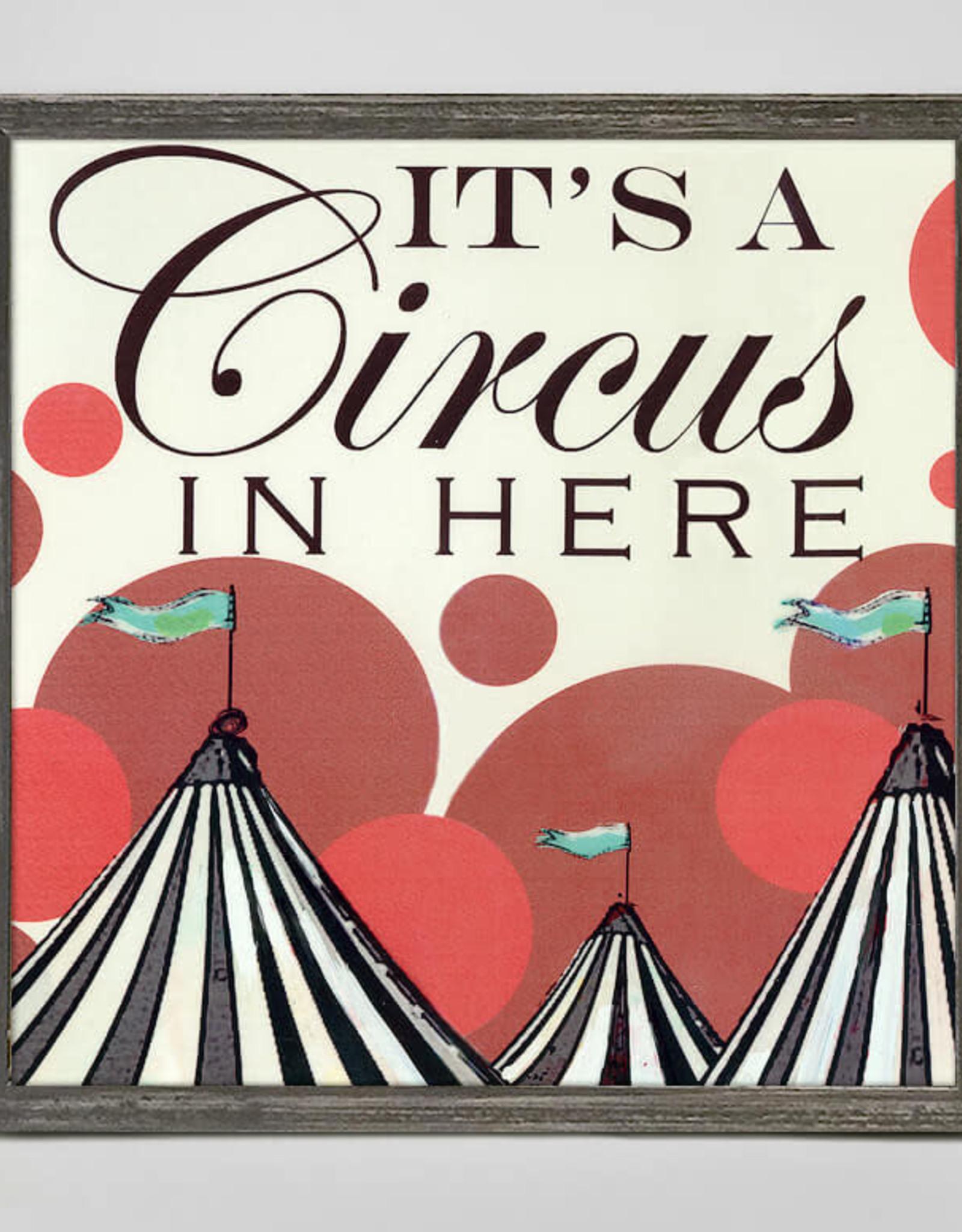 Greenbox Art It's a Circus Here Mini Canvas