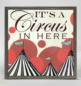 Greenbox Art It's a Circus Here Mini Canvas