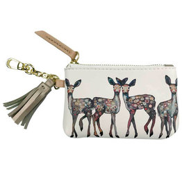 Greenbox Art Dancing Deer Key Pouch