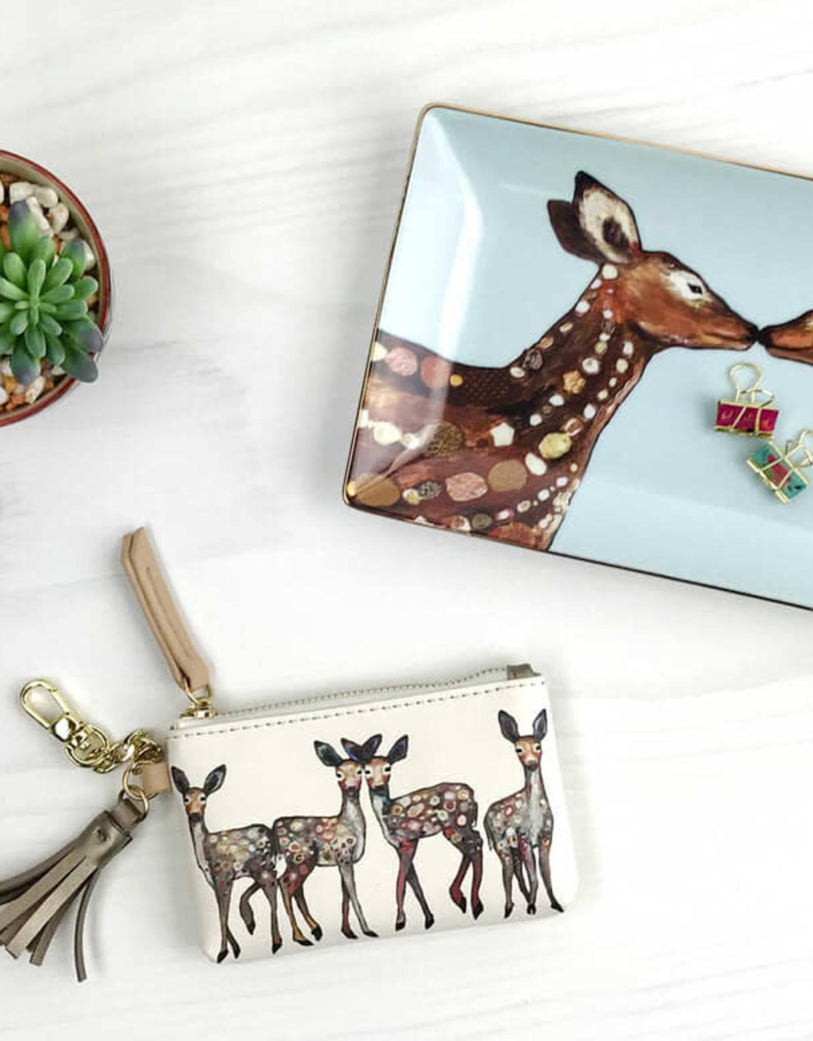 Greenbox Art Dancing Deer Key Pouch
