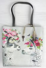 Greenbox Art Lovely Llamas Tote Bag