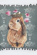 Greenbox Art Bubblegum Bunny Pillow 20x20