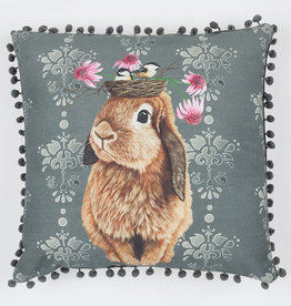 Greenbox Art Bubblegum Bunny Pillow 20x20