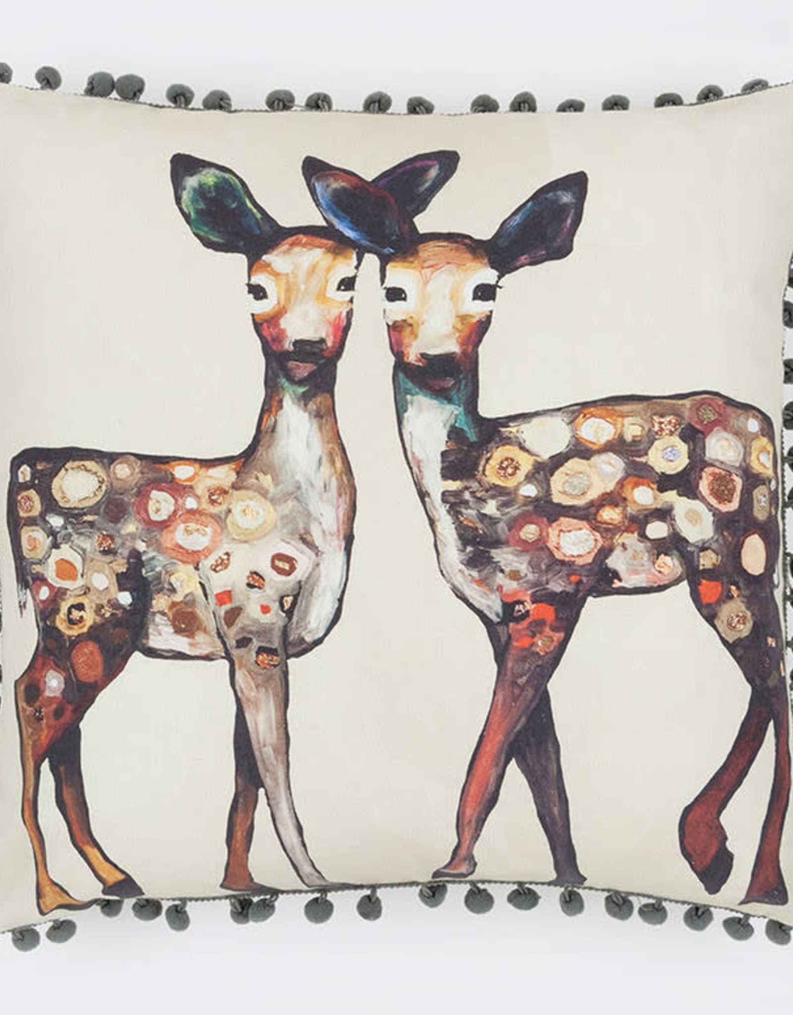 Greenbox Art Dancing Deer Pillow 20x20