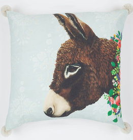Greenbox Art Donkey Next Door Pillow 20 x 20
