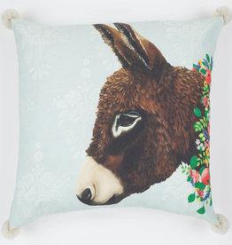 Greenbox Art Greenbox Donkey Next Door Pillow