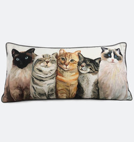 Greenbox Art Feline Friends Pillow 28x14