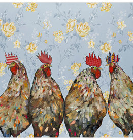 Greenbox Art Greenbox Roosters Canvas