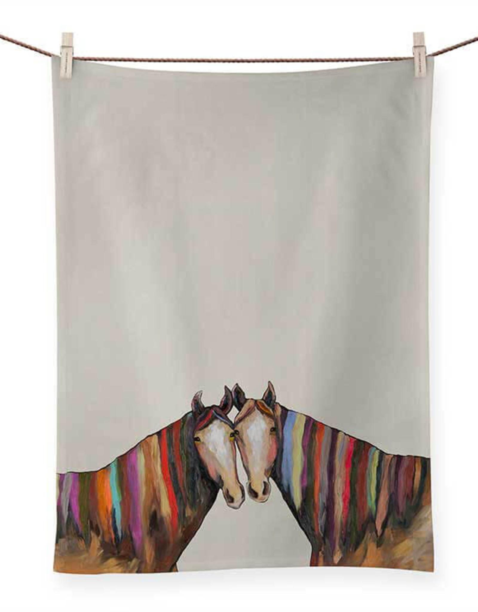 Greenbox Art Manes of Color Tea Towel
