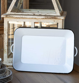 Park Hill Collection Park Hill Enamelware Rectangle Tray
