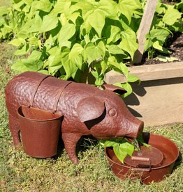 Park Hill Collection Pig Fountain With Side Planter
