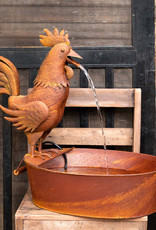 Park Hill Collection Folk Art Rooster Fountain