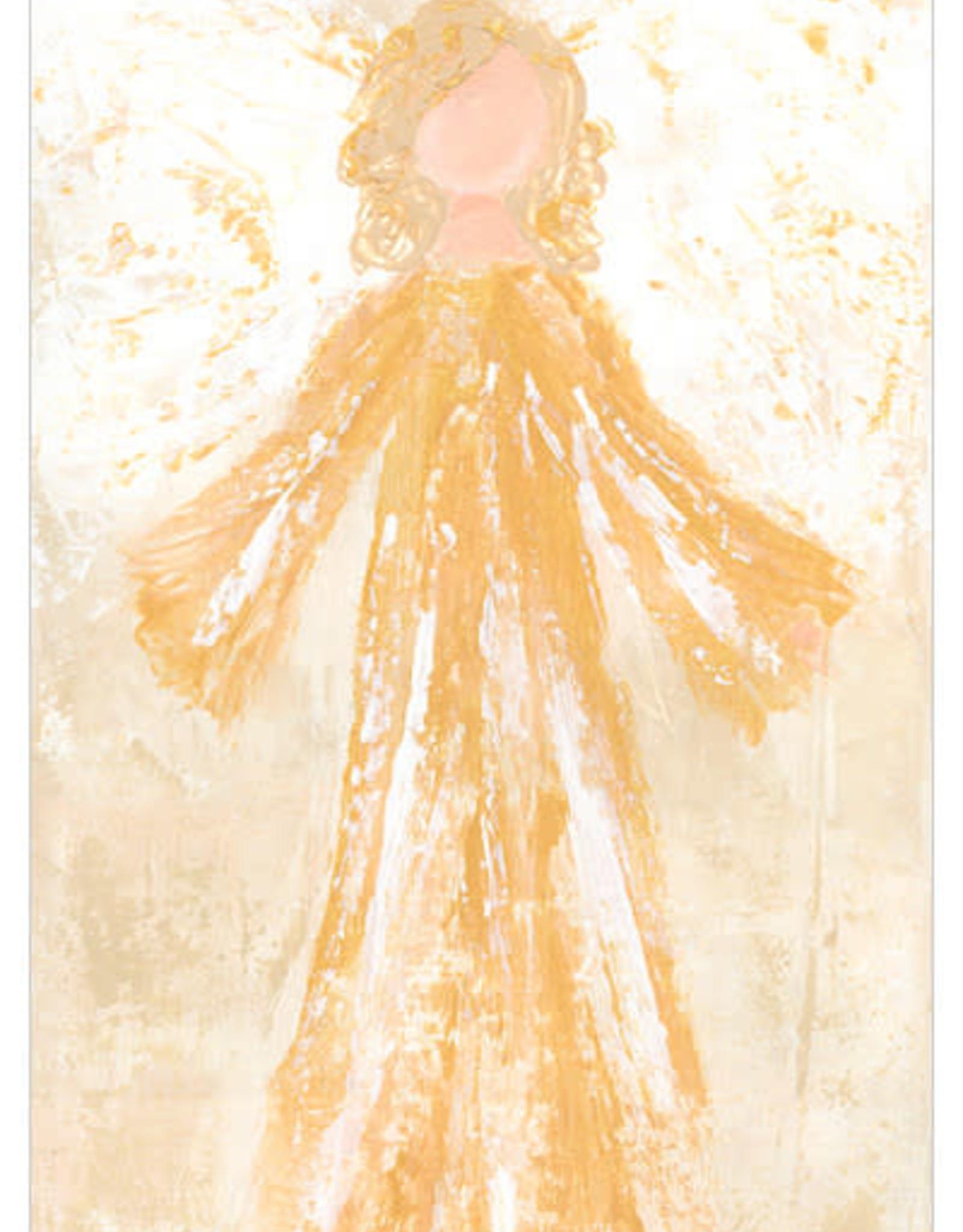Greenbox Art Glory Angel Canvas In Gold