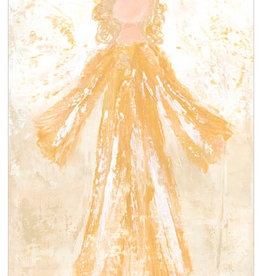 Greenbox Art Glory Angel Canvas In Gold