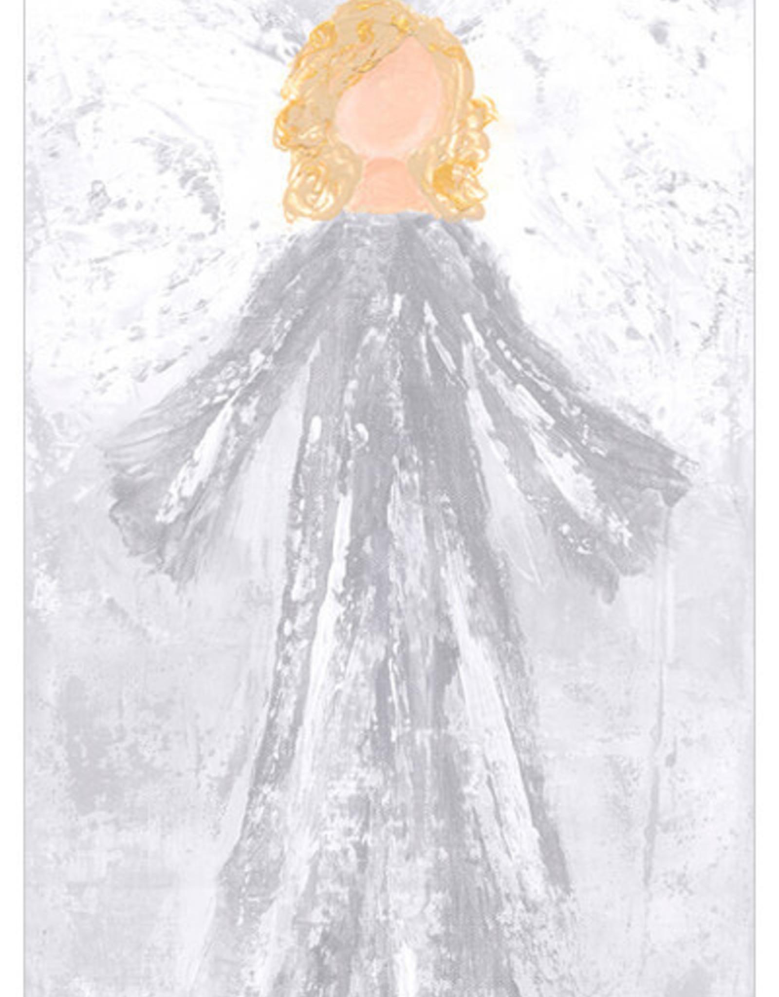 Greenbox Art Glory Angel Canvas In Silver