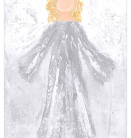 Greenbox Art Glory Angel Canvas In Silver